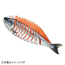 北海道 宗谷・礼文島産「番屋造り」 新巻鮭姿切身(中辛塩味)
