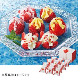 デザートプラン 博多あまおう花いちごのアイス