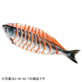 北海道産 新巻鮭寒風仕上げ半身切身(甘塩味)