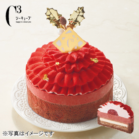 シーキューブ フラワーケーキ 〈ショコラ&フレーズ〉