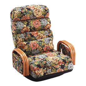 籐もこもこ座椅子 ロータイプ(S15)L